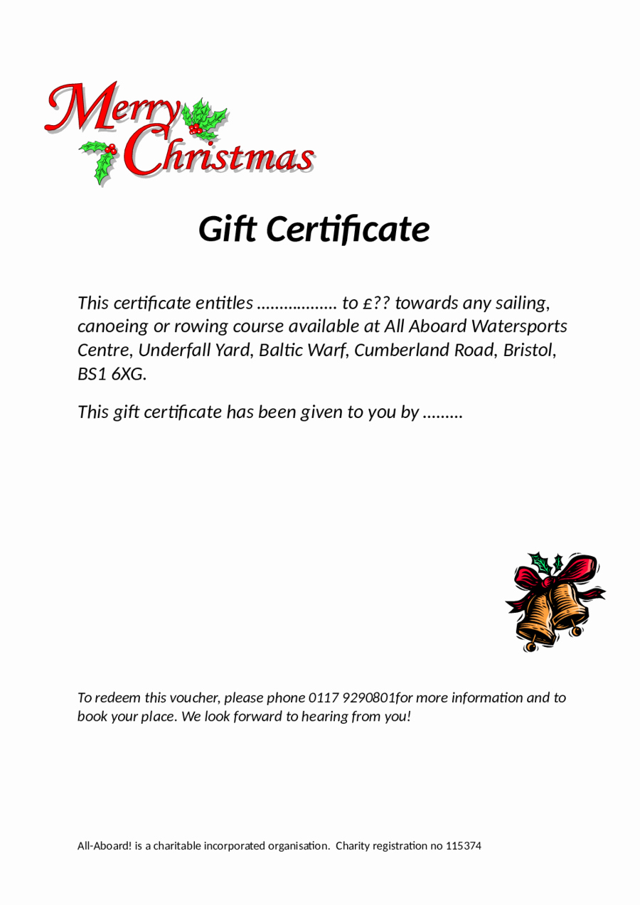 2019 Gift Certificate form Fillable Printable Pdf