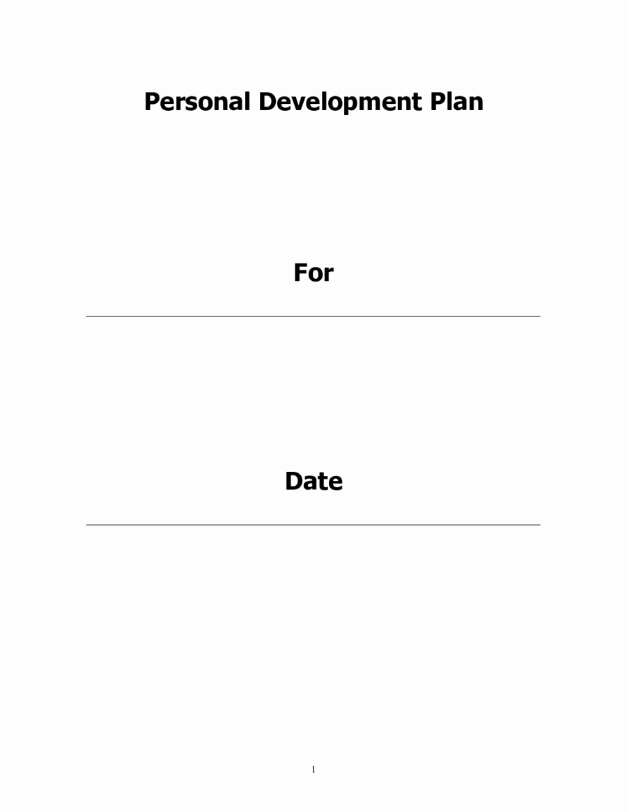 2019 Personal Development Plan Fillable Printable Pdf