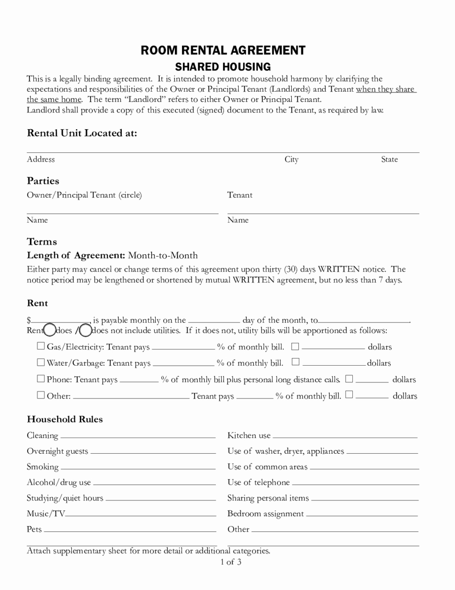 2019 Rental Agreement Fillable Printable Pdf & forms