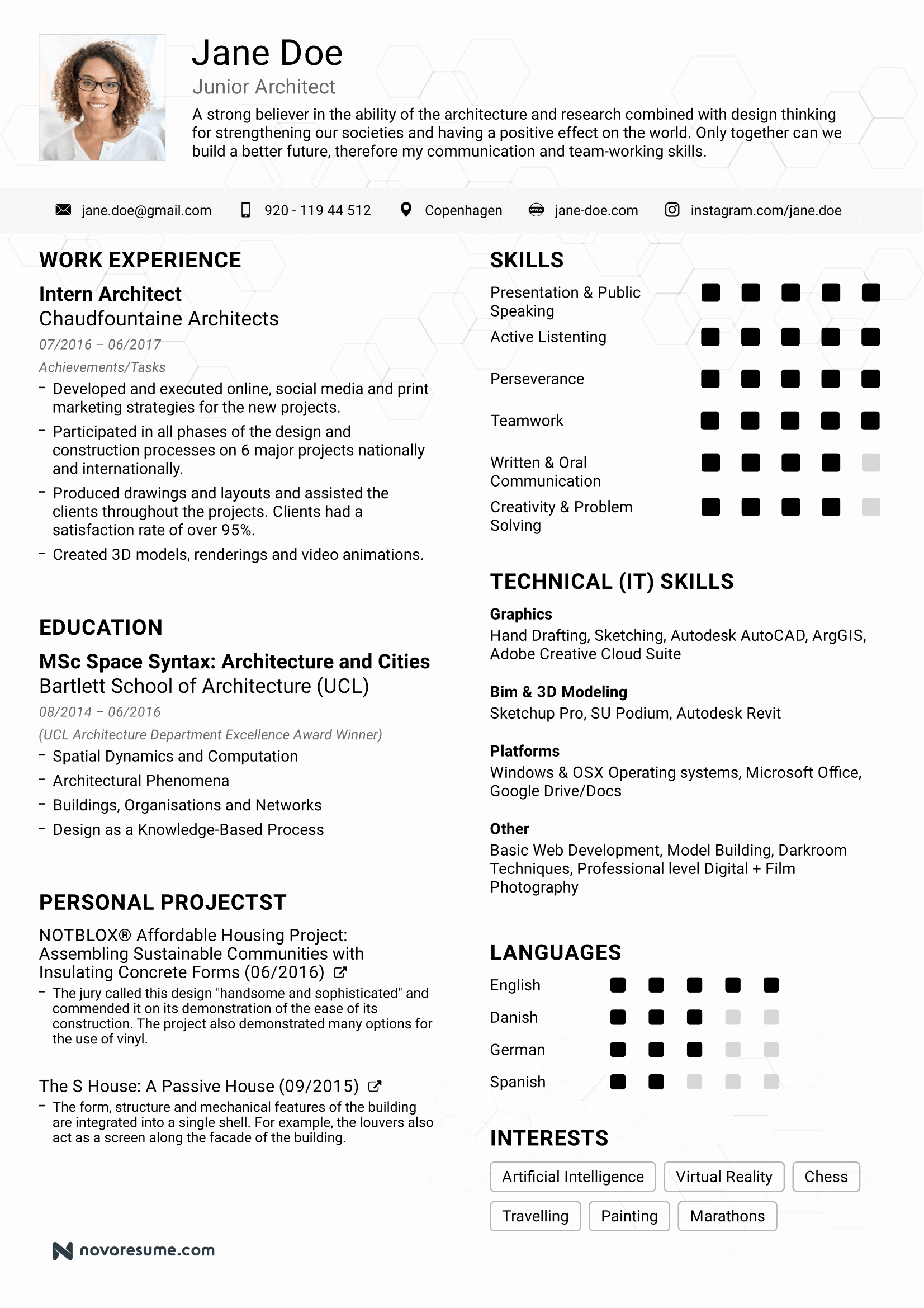 resume examples