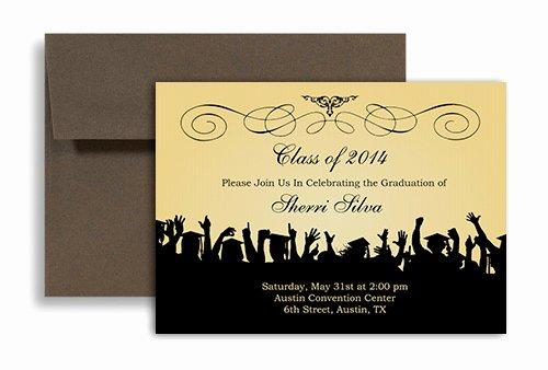 2019 Ribbon Pattern Black Blank Graduation Announcement