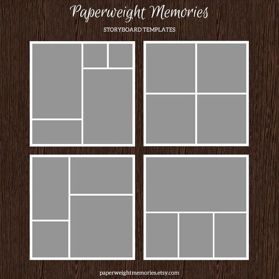 20x20 Storyboard Templates Collage Template