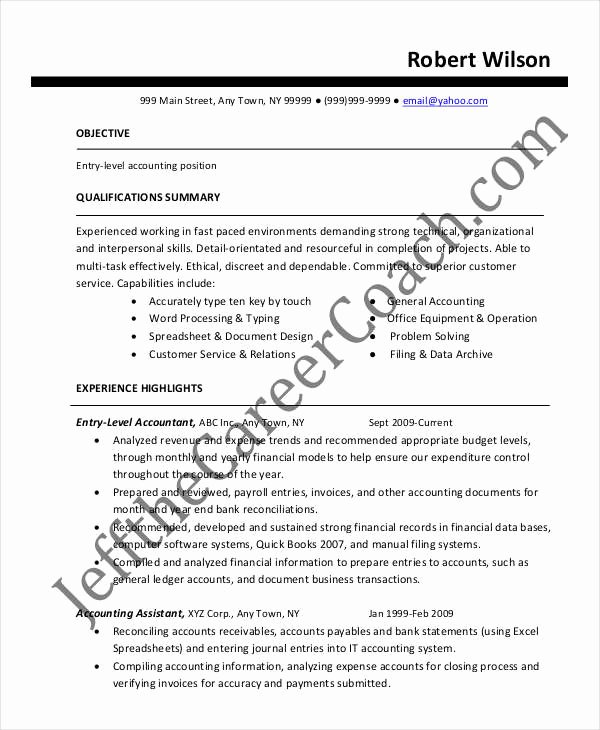 21 Accountant Resume Templates In Pdf