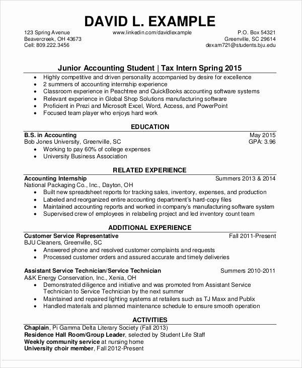 21 Accountant Resume Templates Pdf Doc