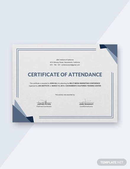 21 attendance Certificate Templates Doc Pdf Psd