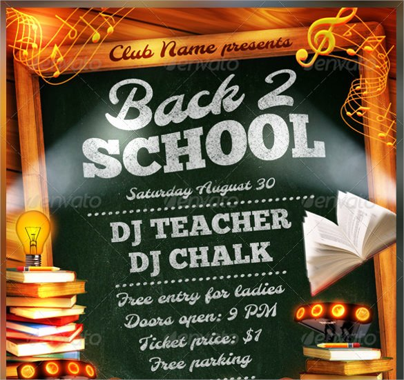 21 Back to School Flyer Templates