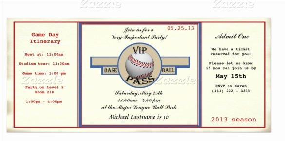 21 Baseball Birthday Invitation Templates – Free Sample