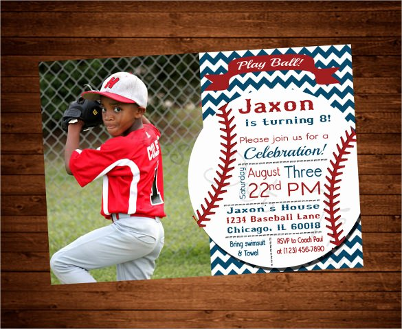 21 Baseball Birthday Invitation Templates – Free Sample