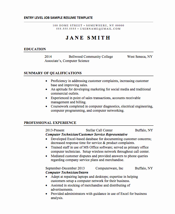 21 Basic Resumes Examples for Students