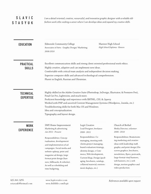 21 Best Images About Well Designed Resumes On Pinterest