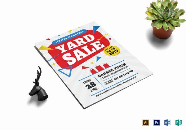 21 Best Yard Sale Flyer Templates & Psd Word Eps