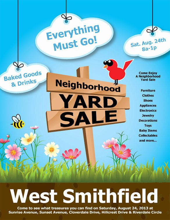 21 Best Yard Sale Flyer Templates & Psd Word Eps
