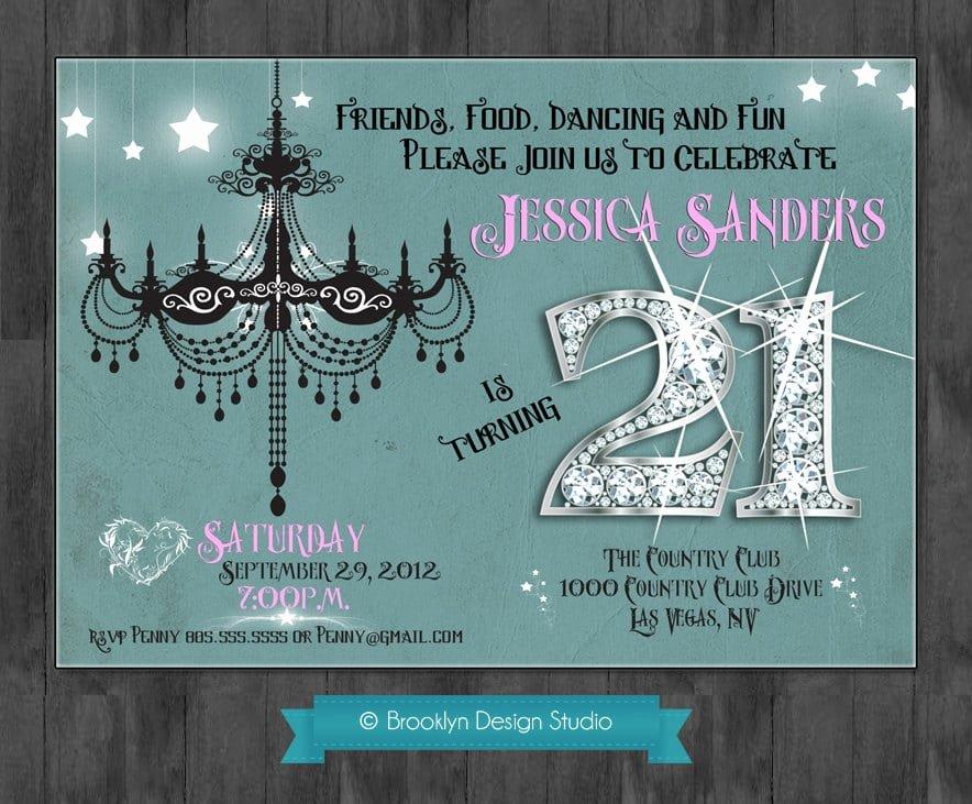 21 birthday invitation