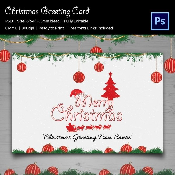 21 Christmas Greeting Cards Psd format Download