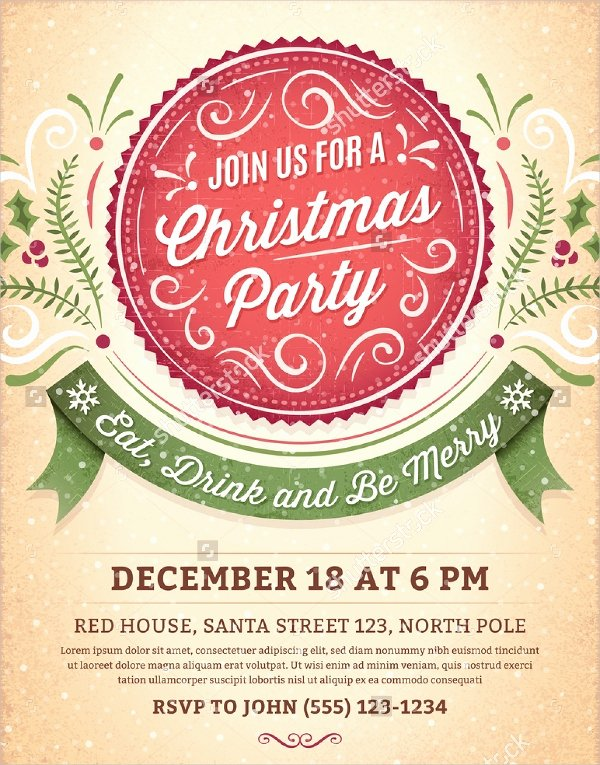 21 Christmas Party Invitation Templates Free Psd
