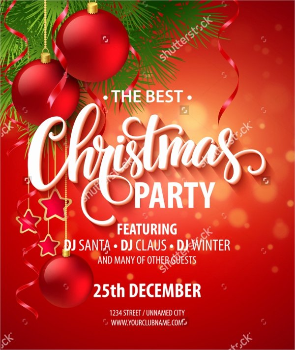 21 Christmas Party Invitation Templates Free Psd