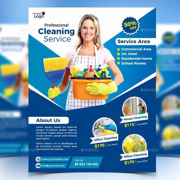 21 Cleaning Flyer Free & Premium Adobe Shop