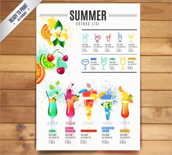 21 Cocktail Menu Templates Free & Premium Download