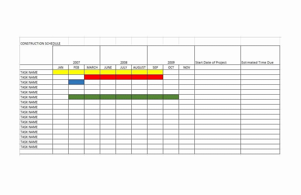 21 Construction Schedule Templates In Word & Excel
