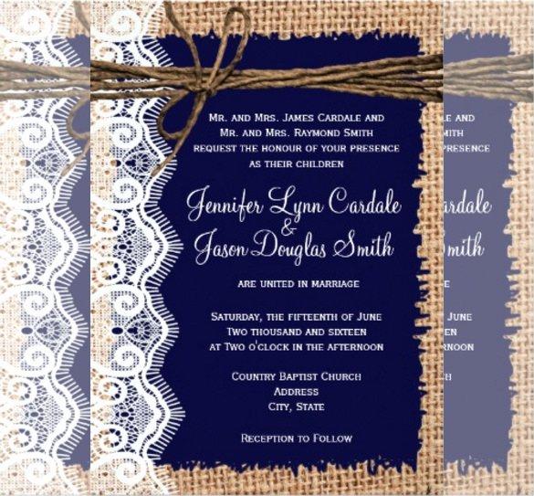 21 Country Wedding Invitation Templates Psd Word Ai