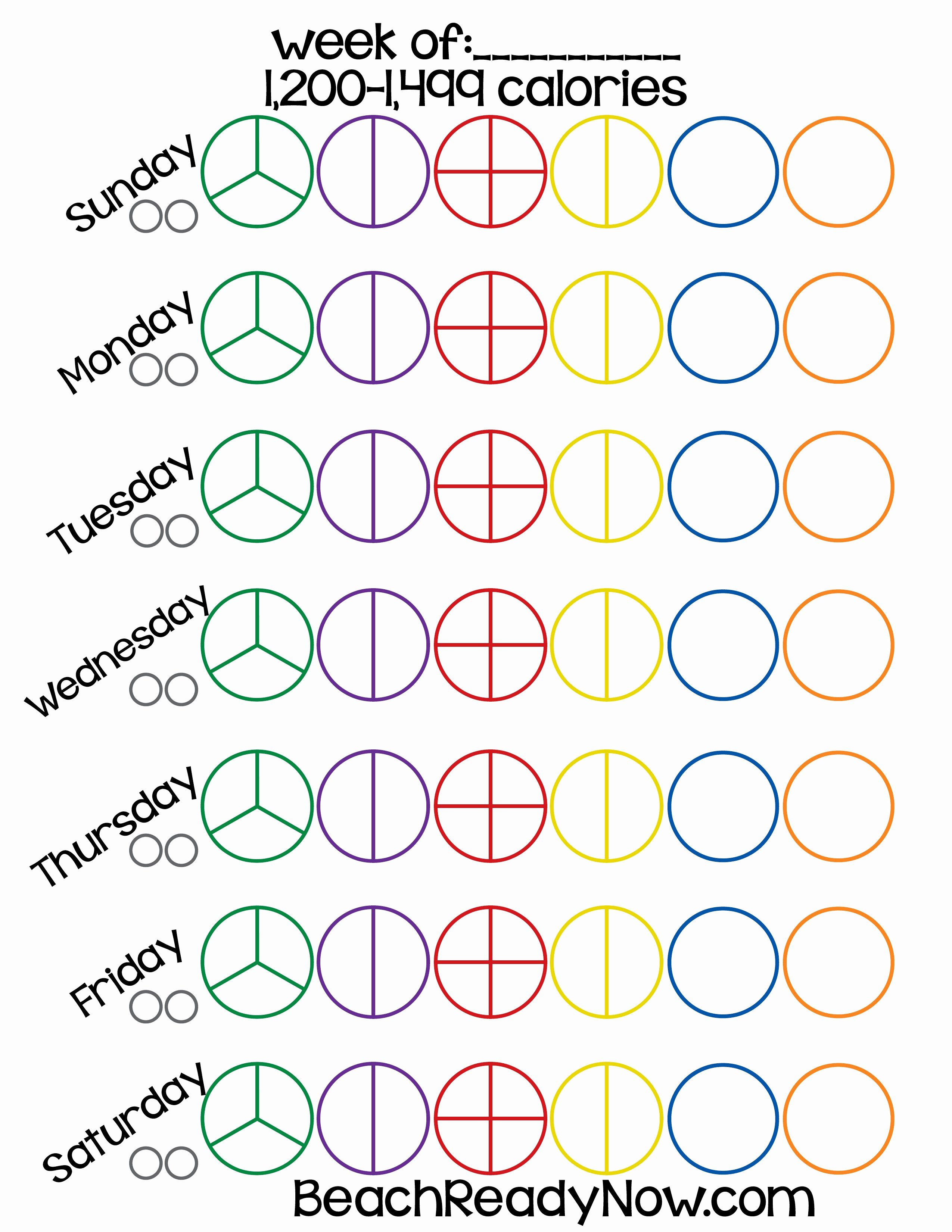 21 Day Fix Printable Tally Sheets Beach Ready now