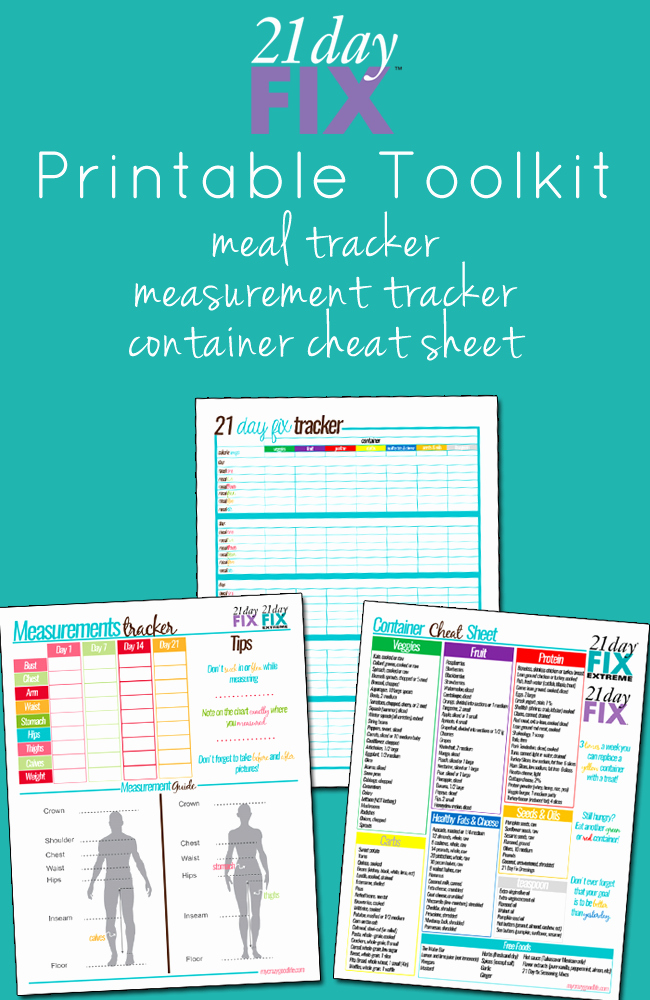 21 Day Fix Printables Search Results