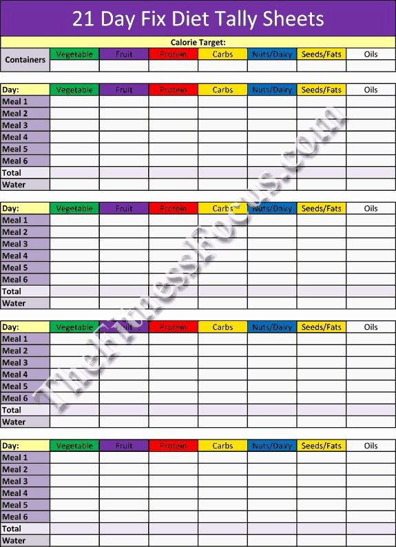 image regarding 21 Day Fix Printable Sheets named 21 Working day Repair service Training Program Printable and Hybrid Calendars