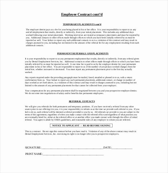 21 Employment Agreement Templates – Free Word Pdf format