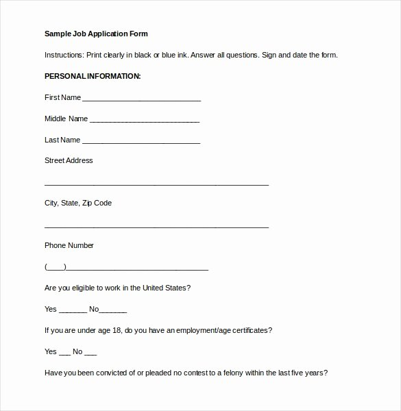 21 Employment Application Templates Pdf Doc