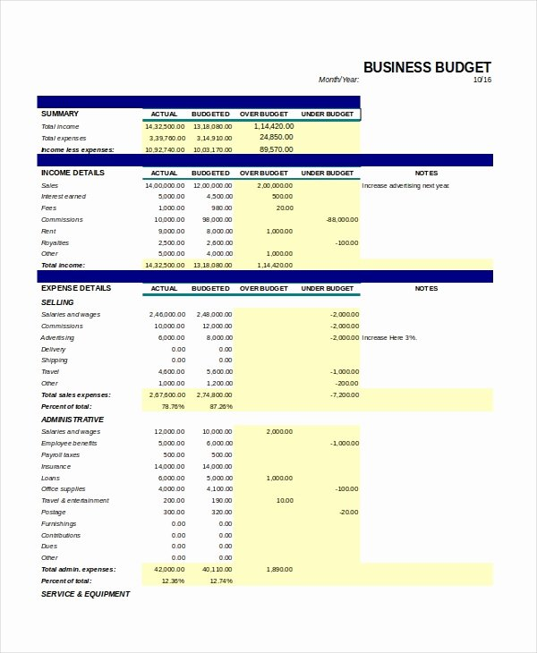 21 Excel Monthly Bud Templates