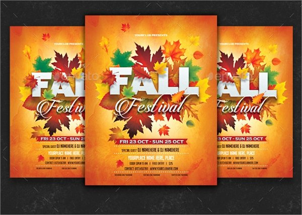21 Fall Flyer Templates