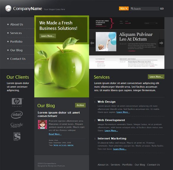 21 Free Business Website themes & Templates