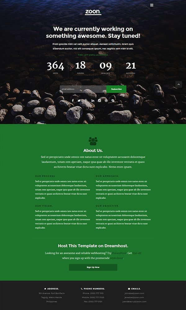 21 Free Ing soon Under Construction HTML Web Templates