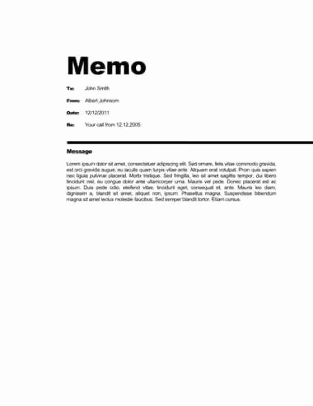 21 Free Memo Template Word Excel formats