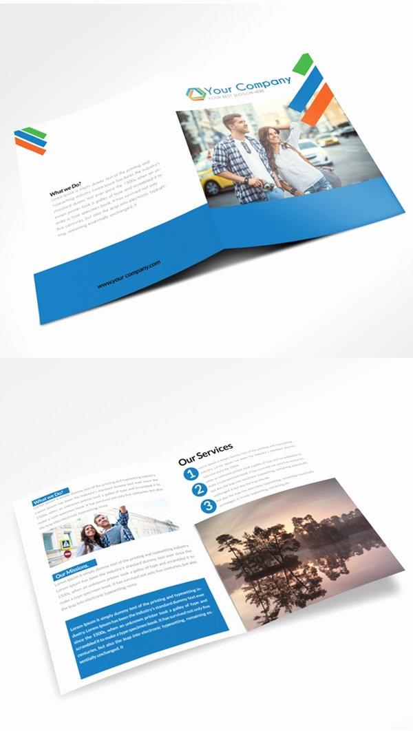 21 Free Psd Bi Fold Brochure Mockups