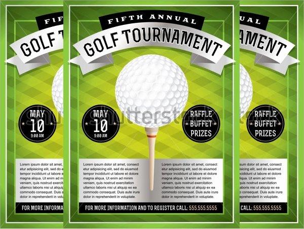 21 Golf tournament Flyer Templates