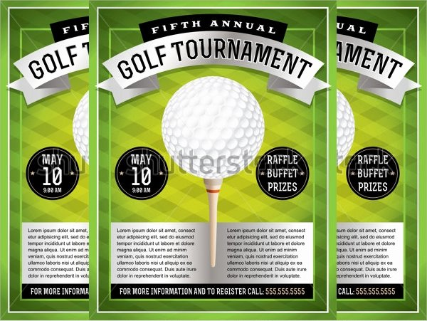 21 Golf tournament Flyer Templates