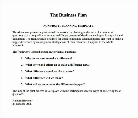 21 Non Profit Business Plan Templates Pdf Doc