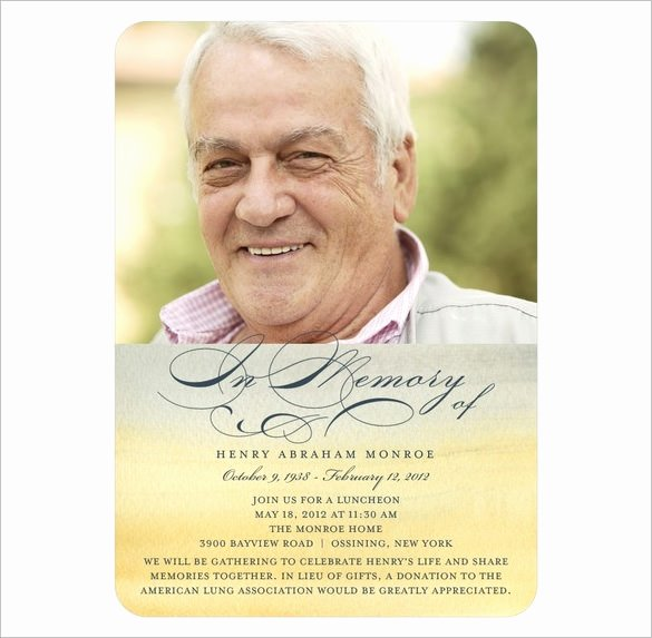 21 Obituary Card Templates – Free Printable Word Excel