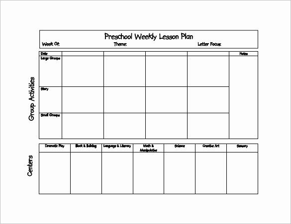 21 Preschool Lesson Plan Templates Doc Pdf Excel
