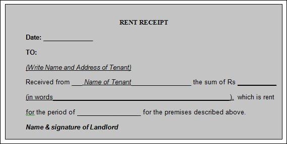 21 Rent Receipt Templates