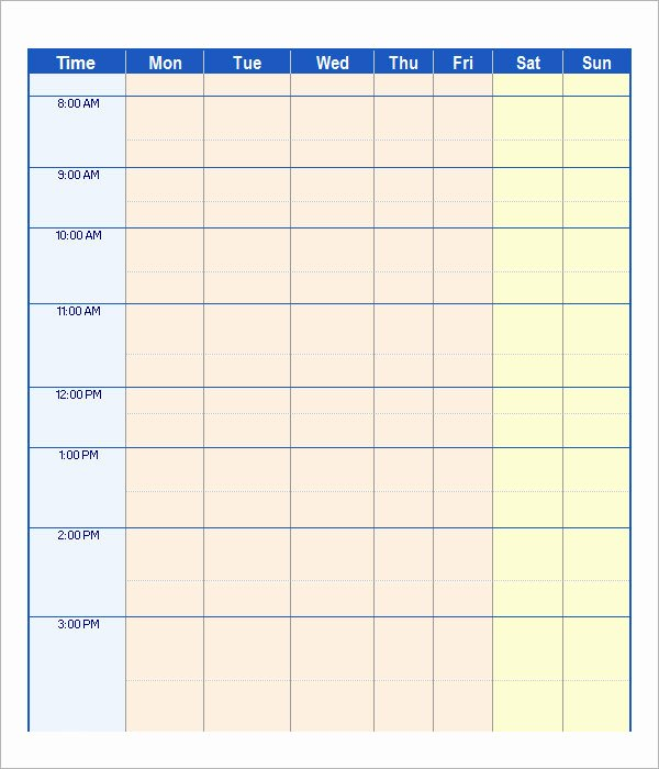 21 Samples Of Work Schedule Templates to Download