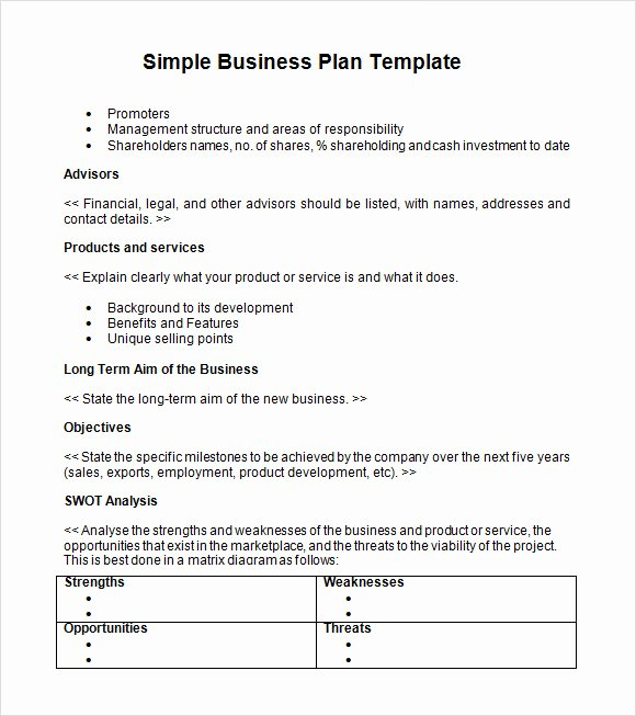 21 Simple Business Plan Templates