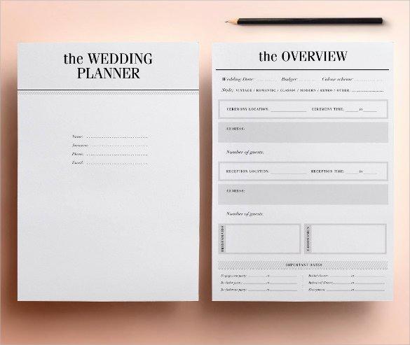 21 Wedding Planner Samples
