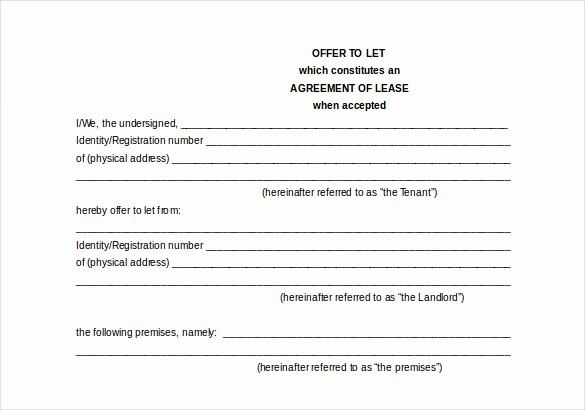 21 Word Rental Agreement Templates Free Download
