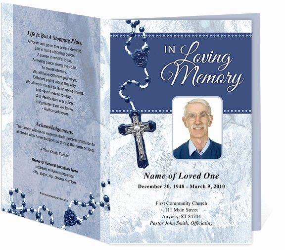 214 Best Creative Memorials with Funeral Program Templates