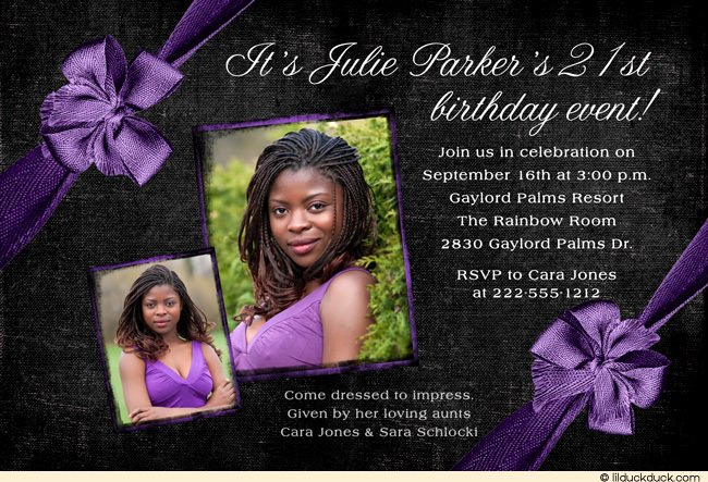 21st Birthday Invitation Ideas – Free Printable Birthday
