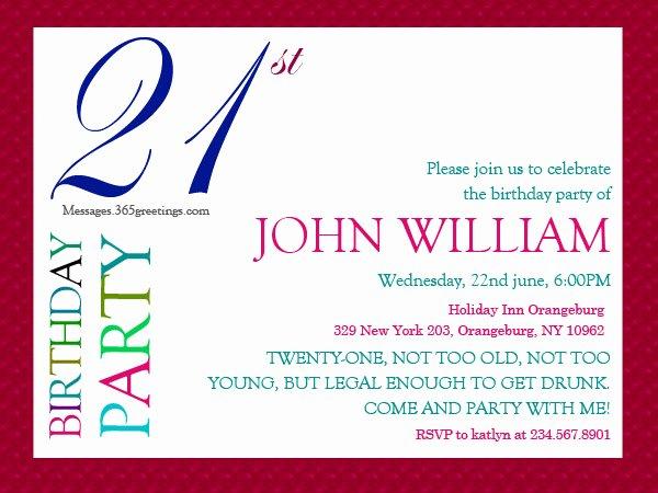 21st Birthday Invitations 365greetings