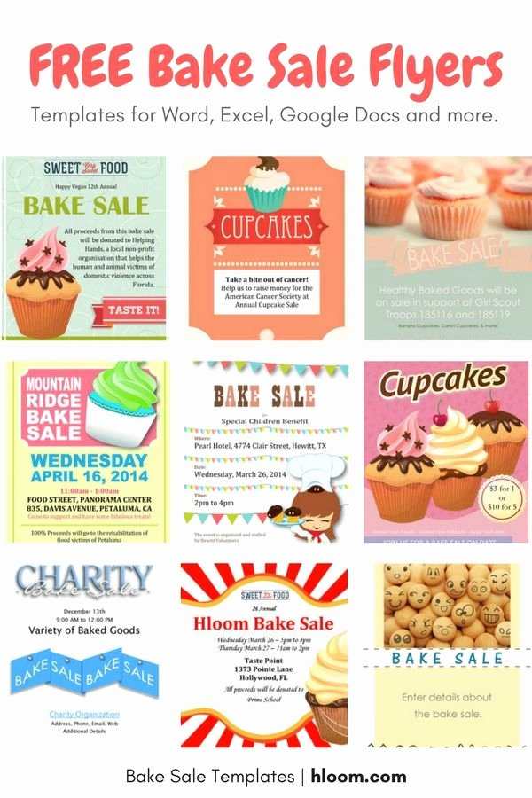 22 Best Bake Sale Flyers Images On Pinterest