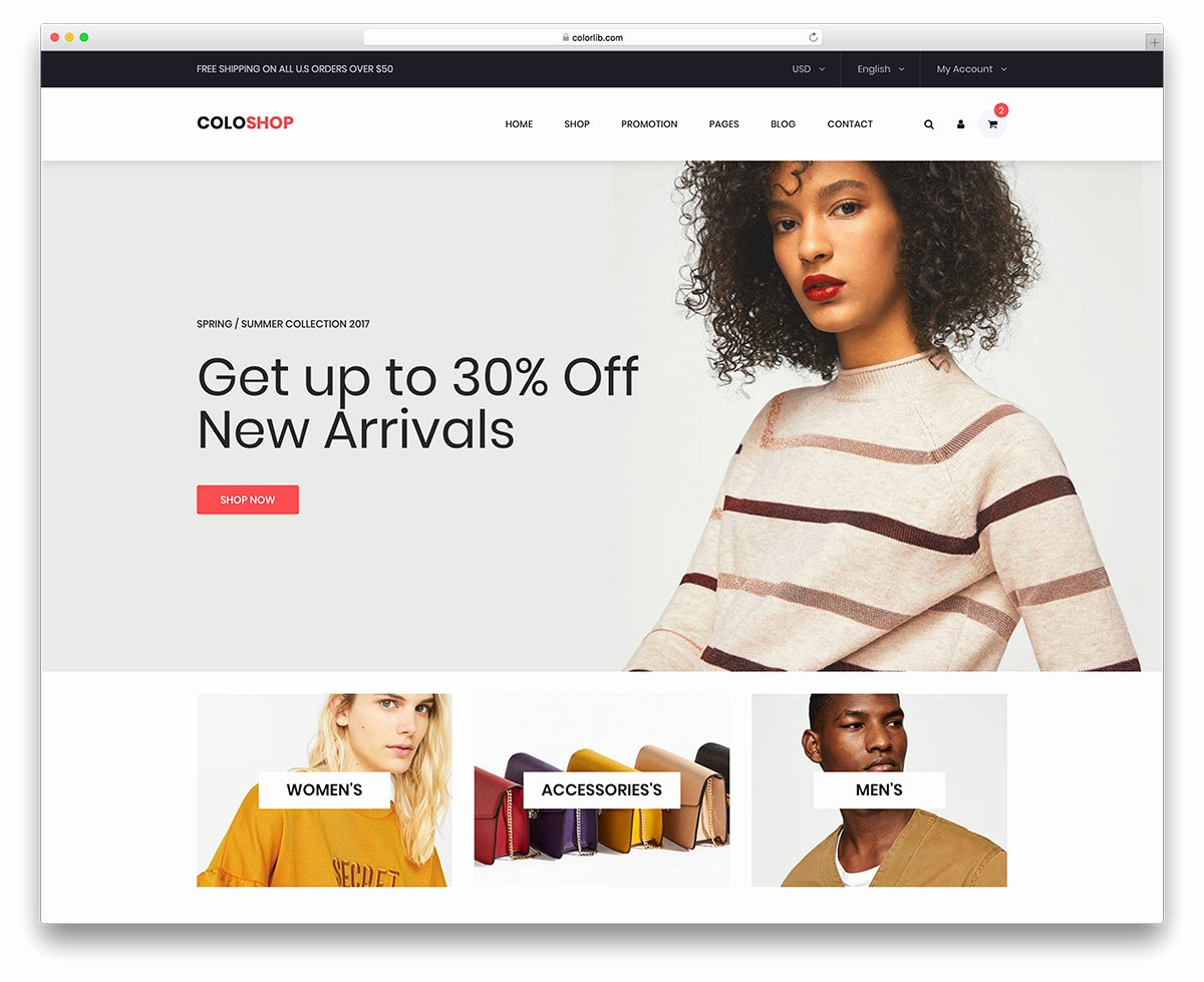 22 Best Free E Merce Website Templates In 2018 Uicookies